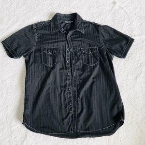 CACTUS Modern Fit Men's Short Sleeve Dress Shirt M
